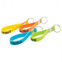 Silicone loop key ring