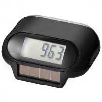 Solar powered clip-on pedometer