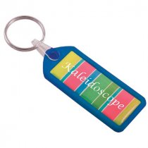 Solid plastic keyring with full colour doming