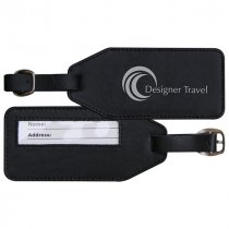 Standard leather luggage tag