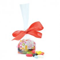 Sweet bag with hand tied ribbon