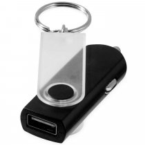 Swivel car adapter key ring