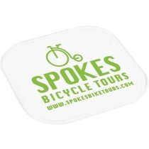 Transparent plastic drinks coaster