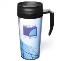 TravelMug is a plastic thermal mug