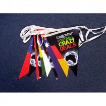 Triangular flagged bunting