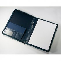 Warwick leather A4 zipped conference folder